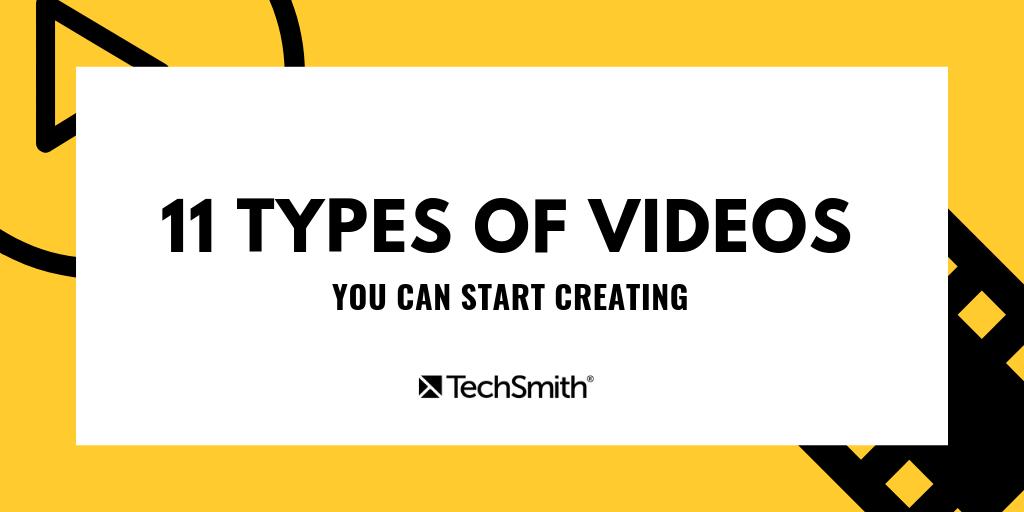 11 tipos de introducción de videos