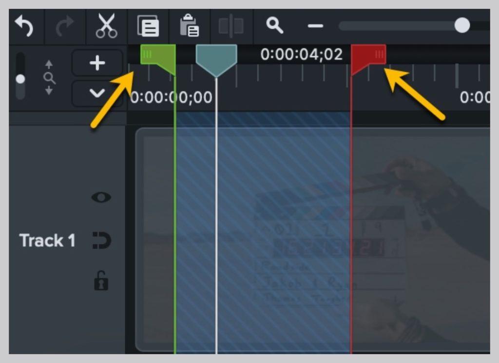 recortar video rojo verde cabeza lectora captura de pantalla