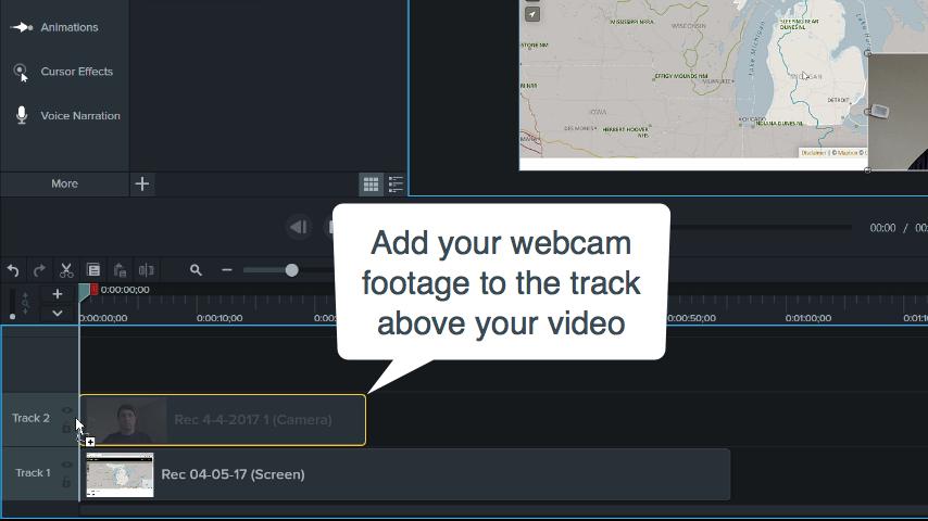 Agregar videos de webcam