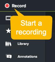 Captura de pantalla de camtasia cómo hacer que un video de demostración comience a grabar