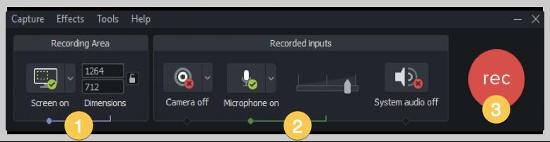 Captura de pantalla de camtasia cómo hacer una grabadora de Windows de video de demostración