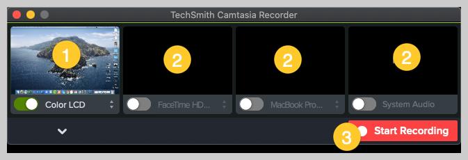 captura de pantalla de camtasia cómo hacer una grabadora de video de demostración mac