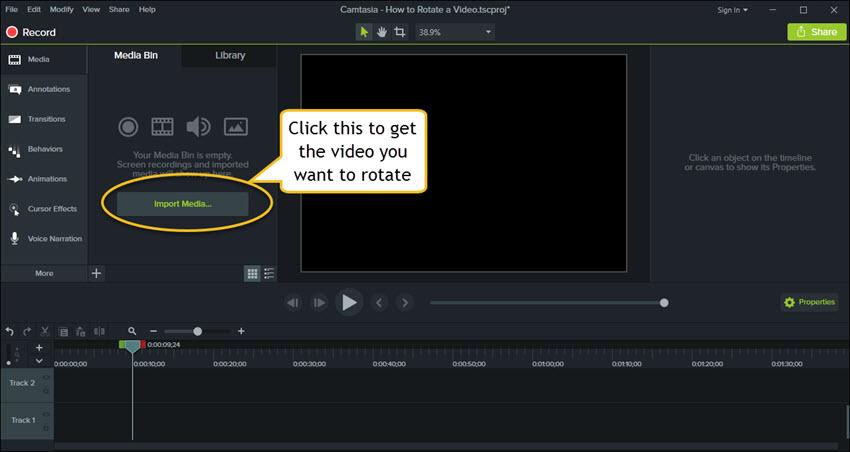 encuentra el video que quieres rotar