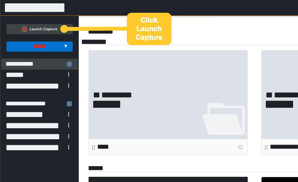 Abra Knowmia Pro y haga clic en el botón Iniciar captura para comenzar su conferencia grabada.