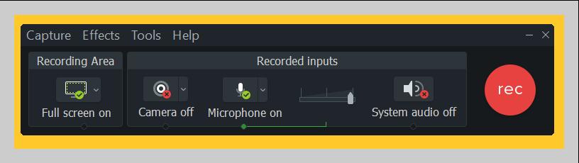 Cómo cambiar la configuración de grabación en Camtasia