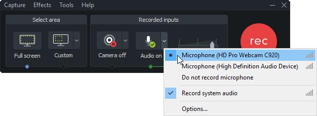 Audio del sistema