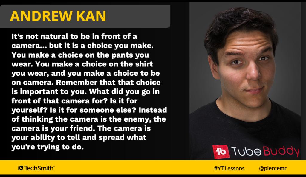 Andrew Kan lo pone todo en perspectiva con su enfoque para ponerse frente a la cámara de tu amigo (no enemigo)