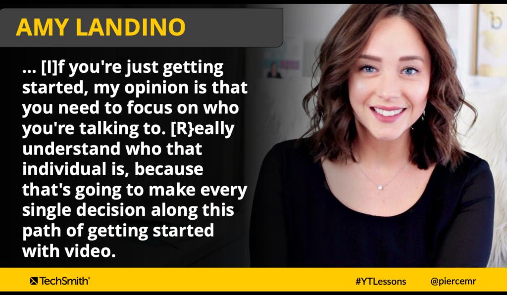 Amy Landino sobre la importancia de conocer a tu audiencia