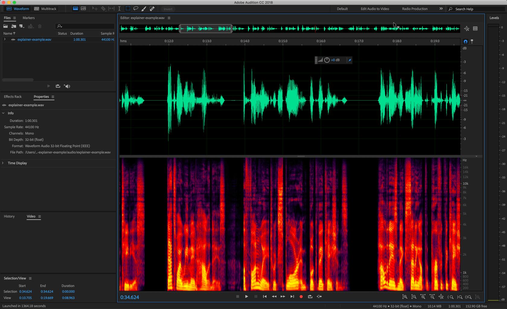 edición de audio para video explicativo animado