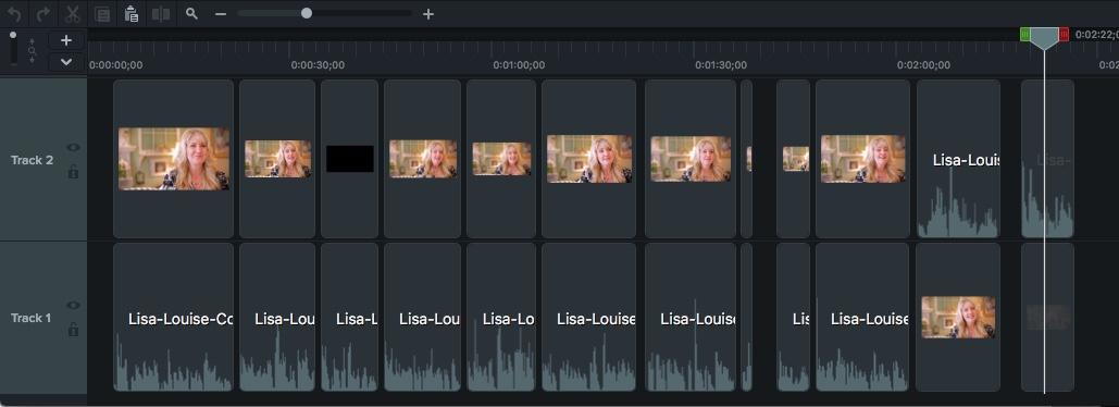 Recorte y edite clips en la línea de tiempo del video