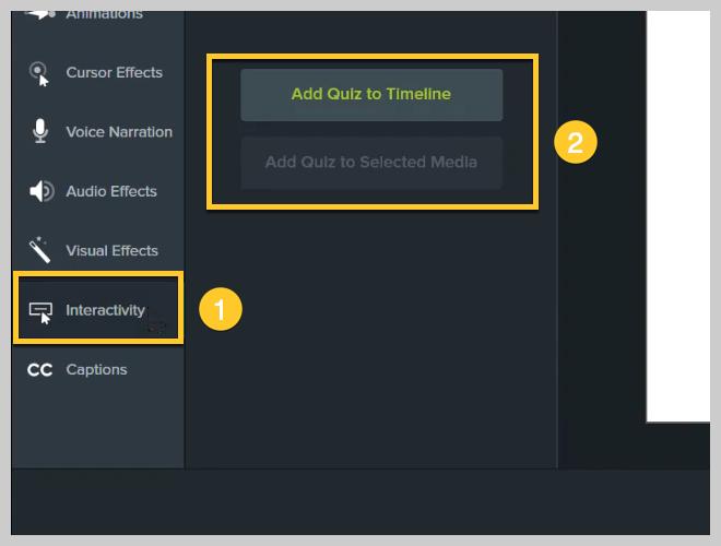 Cómo agregar un cuestionario a un video con Camtasia