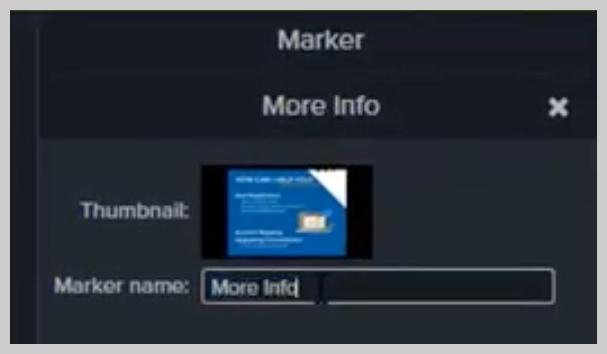 Cómo cambiar el nombre de un marcador en Camtasia