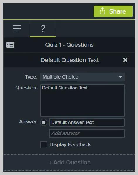 Cómo editar un cuestionario en Camtasia