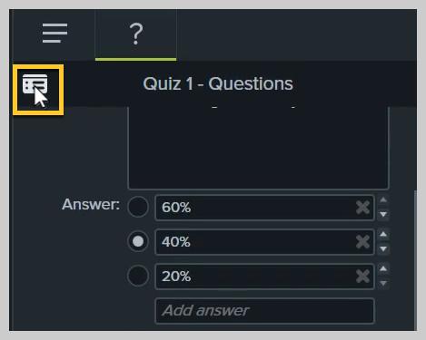 Cómo obtener una vista previa de un cuestionario en Camtasia