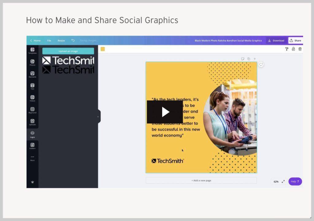 ejemplo de video de incorporación de comunicación visual