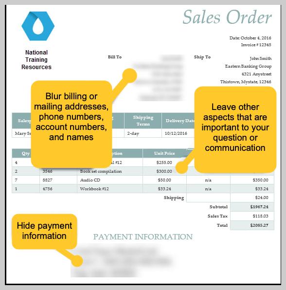 Un pedido de cliente con información borrosa.