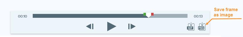 Captura de pantalla de la opción de guardar PNG de la función de recorte de Snagit
