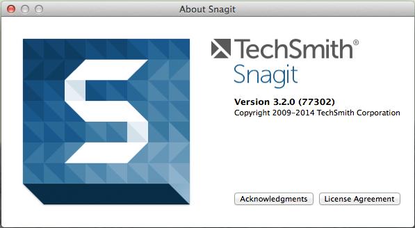 Cuadro de diálogo Snagit en Mac
