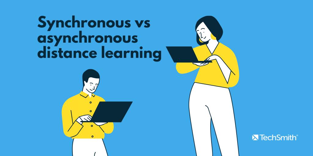 aprendizaje a distancia sincrónico vs asincrónico