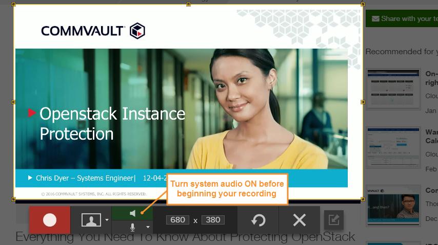 captura de pantalla que muestra el botón de captura de audio de Snagit