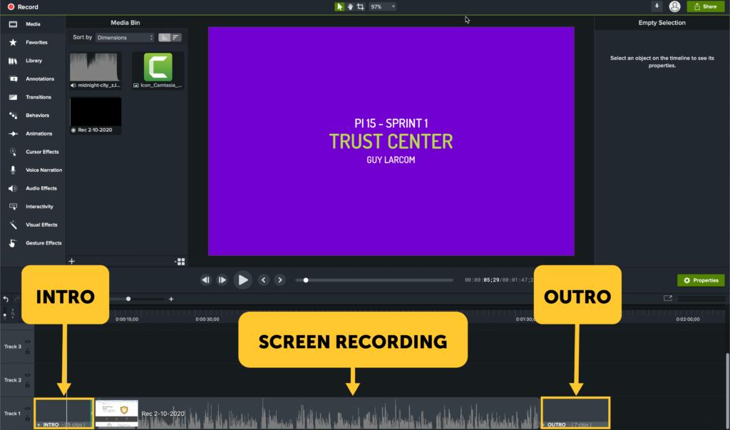 Diseño de plantilla de video.
