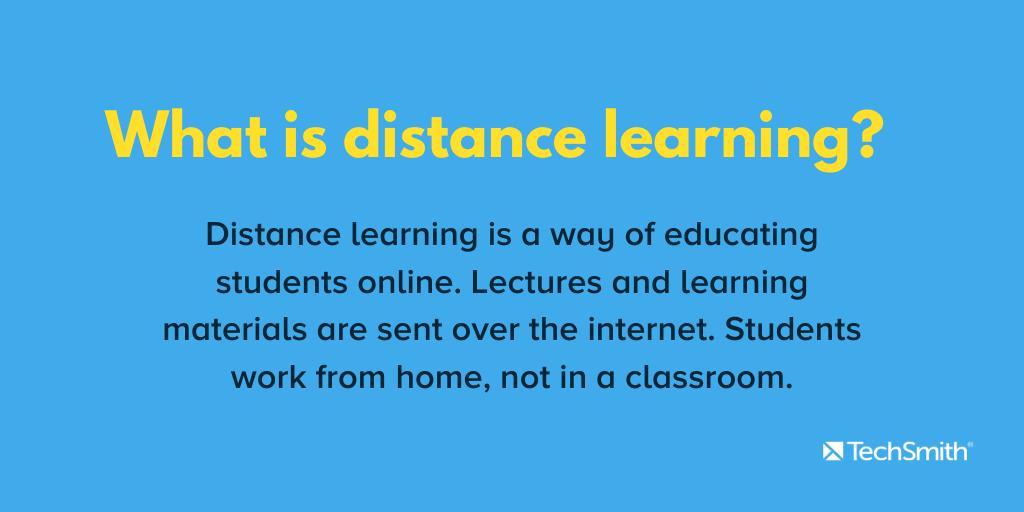 que es el aprendizaje a distancia